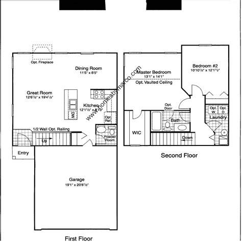 Centex Homes Floor Plans 2002 by Model In The Renwick Trail Subdivision In