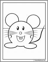 Mouse Coloring Cute Pages Print Colorwithfuzzy sketch template