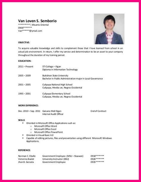 On The Resume For Hrm by Exle Of Resume For Hotel And Restaurant Management