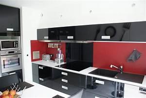 awesome la cuisine moderne gallery design trends 2017 With cuisine rouge et noir