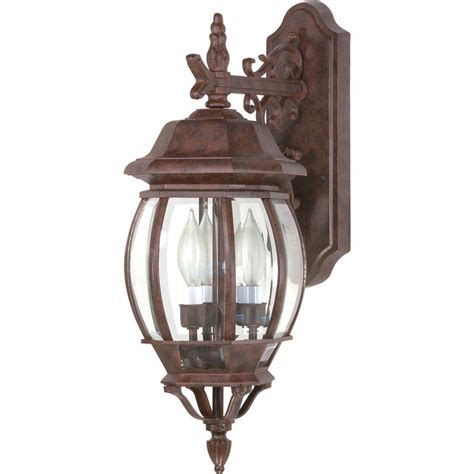 glomar concord 3 light outdoor old bronze wall lantern hd