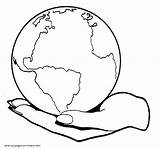 Earth Planet Coloring Palm Drawing Printable Getdrawings Holidays sketch template