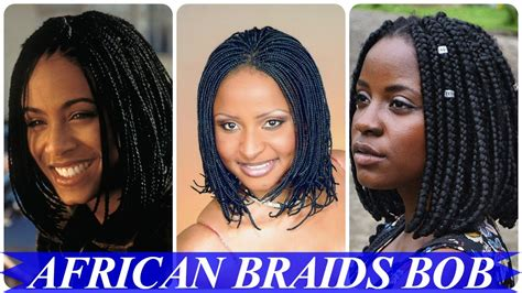 20 Top Chic African Braided Bob Hairstyles