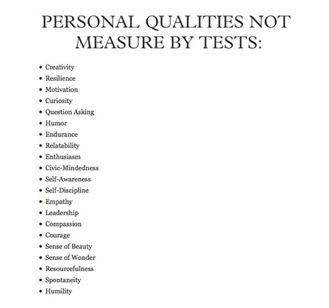 qualities  measured  tests ms  everyday life