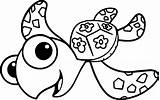 Coloring Turtle Nemo Squirt Finding Sea Disney Turtles Printable Adult Wecoloringpage Niobrarachalk Fish Sheets sketch template