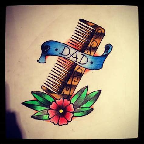 simple hair comb tattoo