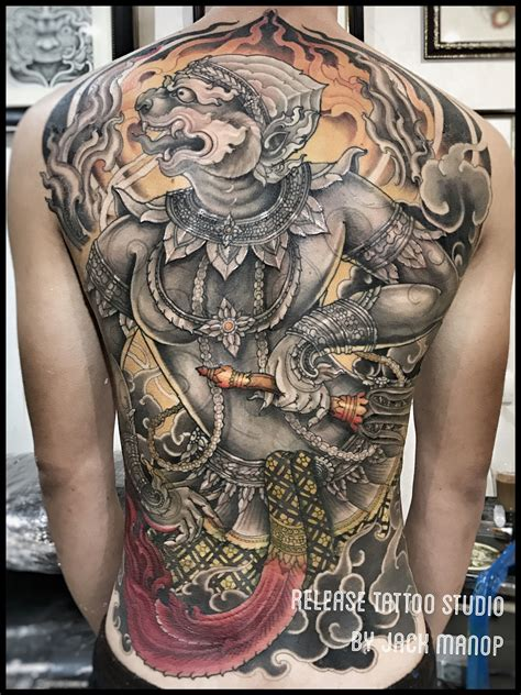 Neo Thai Thai Tattoo ���นุมา  Thai Tattoo Pinterest