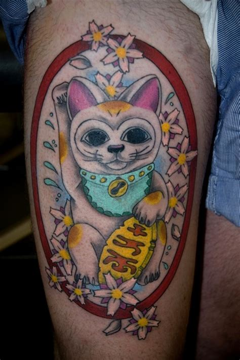 lucky cat tattoos designs ideas  meaning tattoos