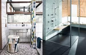 Badezimmer Deko Ideen : deko und badezimmer ideen duschvorhang und glastrennwand ~ Indierocktalk.com Haus und Dekorationen