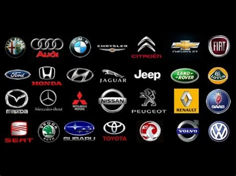 all car logos and names in the world pdf 10 famous logos that have a hidden meaning youtube