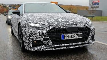 audi rs spy shots pictures evo