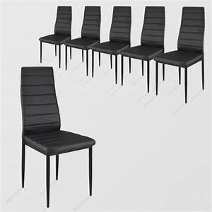 Chaise Noire Salle A Manger : lot de 6 chaises salle a manger achat vente lot de 6 ~ Teatrodelosmanantiales.com Idées de Décoration