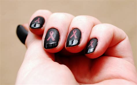 breast cancer nail designs breast cancer nail designs