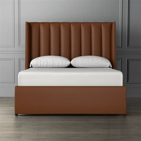 Leather Bed Headboard by Channeled Leather Bed Headboard Williams Sonoma