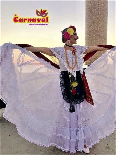Traje Tipico Profesional Veracruz De Mujer Jarocha en