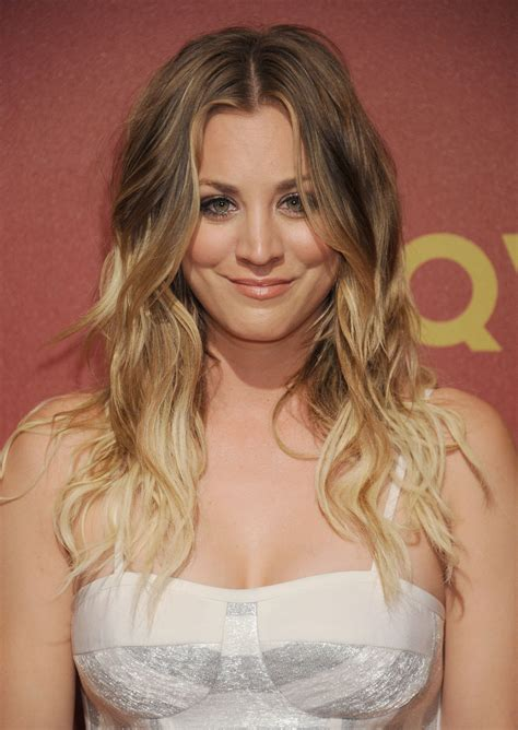 Kaley Cuoco Gets Hair Extensions After Filming For The
