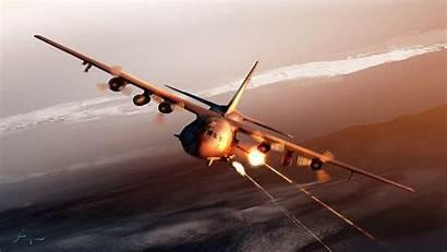 130 Ac Lockheed Wallpapers Gunship Air Force