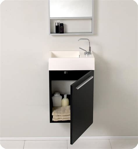 small bathroom vanity cabinets 15 5 fresca pulito fvn8002bw small black modern