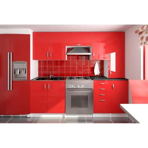 cuisine grise pas cher amanda cuisine complète 220 cm achat vente