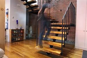 Escalier Metal Et Bois : escalier en acier et bois recycl ~ Dailycaller-alerts.com Idées de Décoration