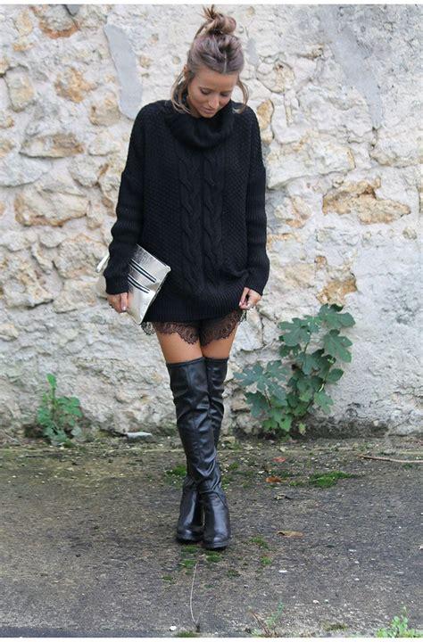 tenue avec cuissarde en dentelle fashion moda mode femme noholita