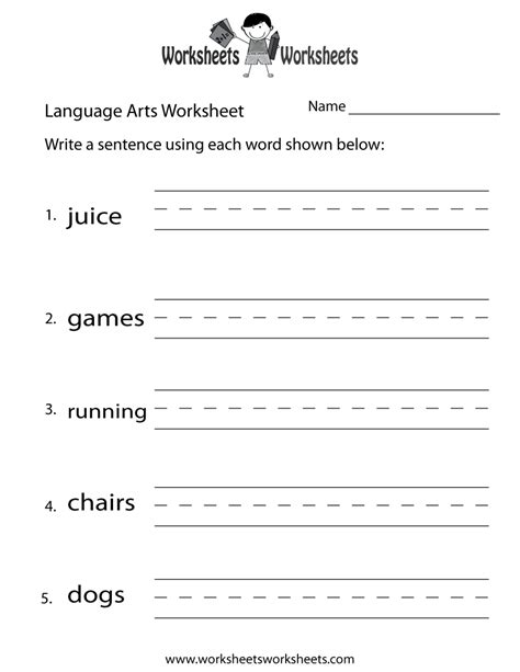 free language arts worksheets for 3rd grade free writing