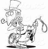 Evil Cartoon Coloring Noose Outlined Clipart Toonaday Clipartmag sketch template