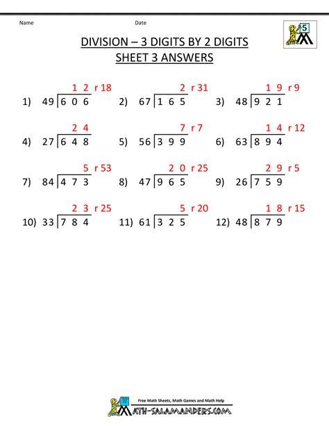 long division worksheets   grade