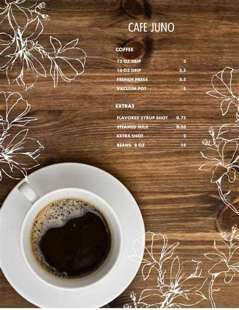 View the menu for share coffee roasters and restaurants in hadley, ma. Drip Coffee Menu   Design Templates by MustHaveMenus
