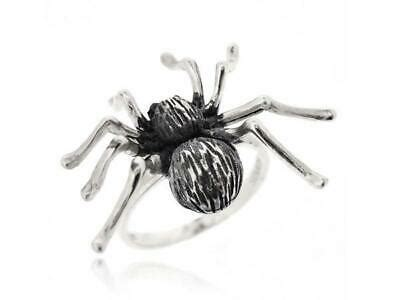 sterling silver black antique gothic style animal spider women ring size  ebay