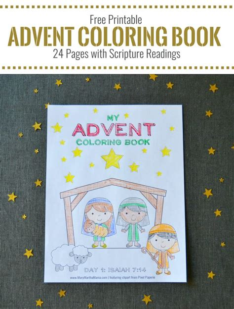 free printable advent coloring book for kids money