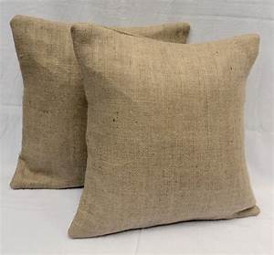 set of 2 26x26 or 28x28 burlap euro shams completely lined With euro sham insert 28x28