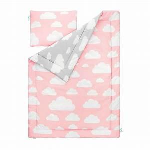 Parure De Lit Rose Et Gris : parure de lit nuages gris et rose ~ Melissatoandfro.com Idées de Décoration