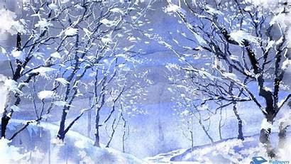 Winter Backgrounds Woods Wallpapers Wide