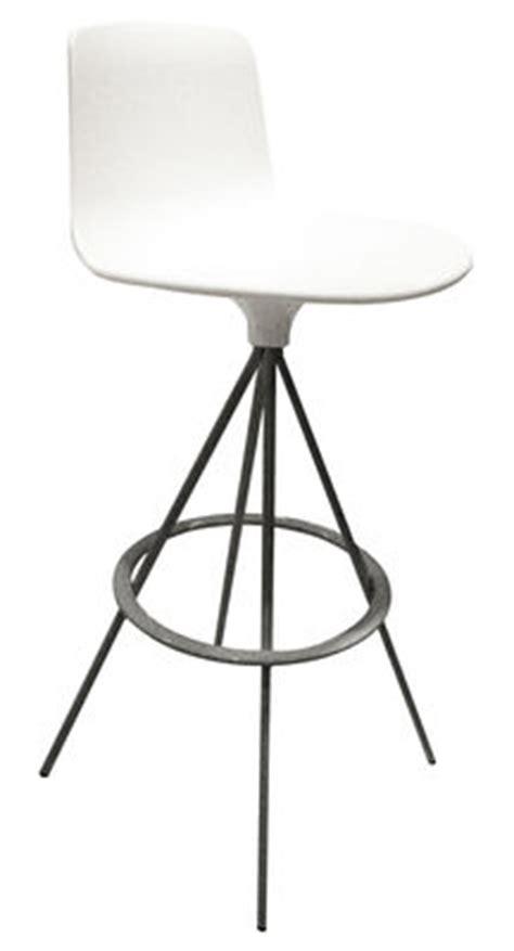 tabouret de bar pivotant tabouret haut pivotant lottus h 76 cm bicolore blanc pied gris aluminium enea