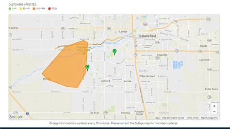 large power outage reported  west bakersfield kbak