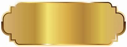 Golden Template Label Clipart Labels Badges Transparent