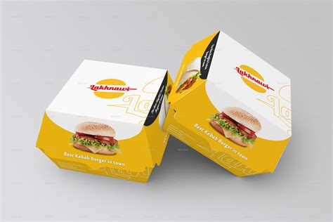 burger box mock up template burger box mockups by shrdesign graphicriver