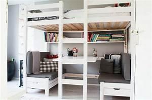 Echelle Pour Lit En Hauteur : le lit mezzanine r gne dans la chambre d 39 enfants ~ Premium-room.com Idées de Décoration