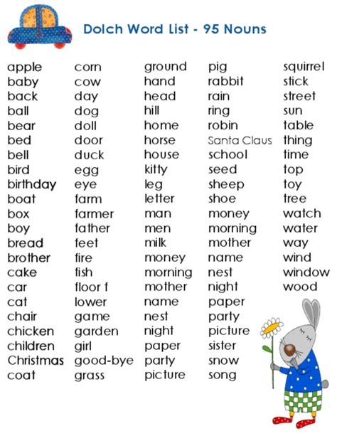 dolch primer dolch sight words for fifth graders 1000 images about