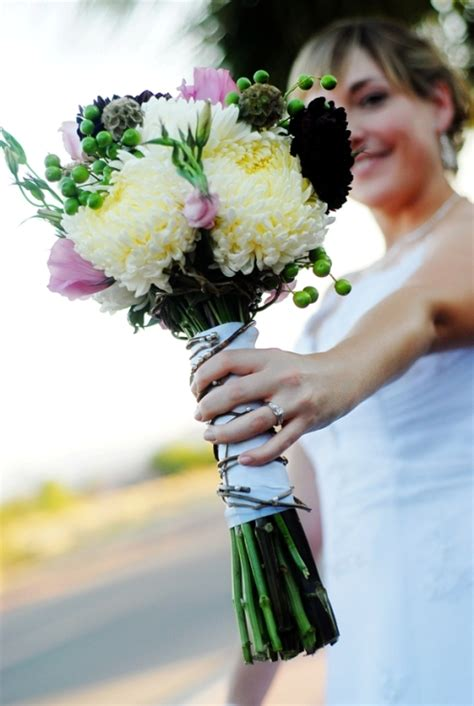 creative bridal bouquet wraps southernn utah wedding