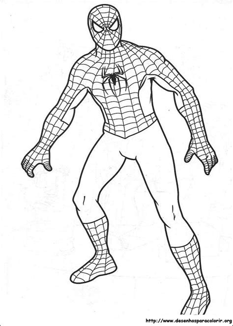 homem aranha  colorir  imprimir muito facil