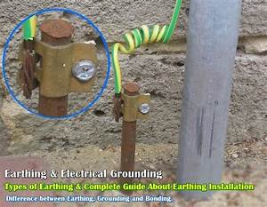 Earthing, Types of Electrical Earthing & Electrical Grounding