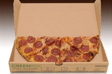 Eco-friendly Pizza Box Splits Into Plates And Leftover