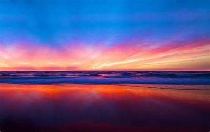 Horizon Colorful Clouds Super Widescreen Nature