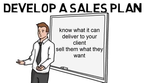 Develop a Sales Plan - YouTube