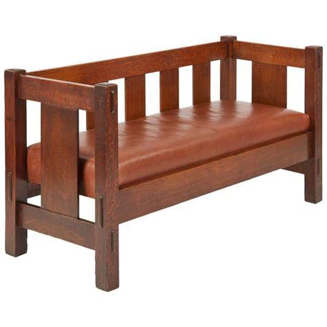 Stickley Settee by Gustav Stickley Mission Oak Settee Sofa Bench 205 C