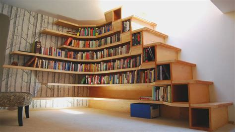 Bookshelves : 21 Amazing Bookshelves In The Staircase As A Great Idea Of