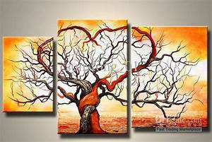2017 Popular Tree Group Canvas Painting Morden Group