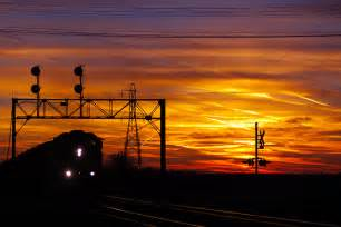 Eastbound BNSF Freight Train at Sunset | Photography by ...